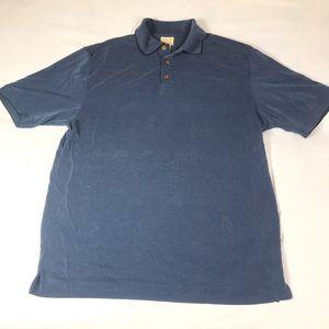 Jos. A Bank Men's Medium Blue/Black Polo Shirt